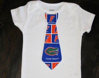 Boys Tie Onesie Or Shirt - University of Florida Gators - football or basketball