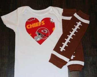 Kansas city baby etsy kansas city chiefs heart onesie bodysuit with leg or arm warmers nfl negle Choice Image