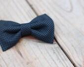 """The """"Canaan"""" - Dark Blue Bow Tie"""