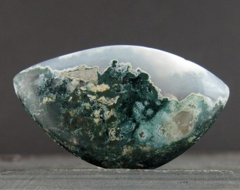 Free form Green moss agate cabochon, Natural stone, Jewelry making supplies   B6505