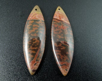 Beautiful  pair Australian jasper   beads, Drilled, Earring set , Jewelry making supplies B6631