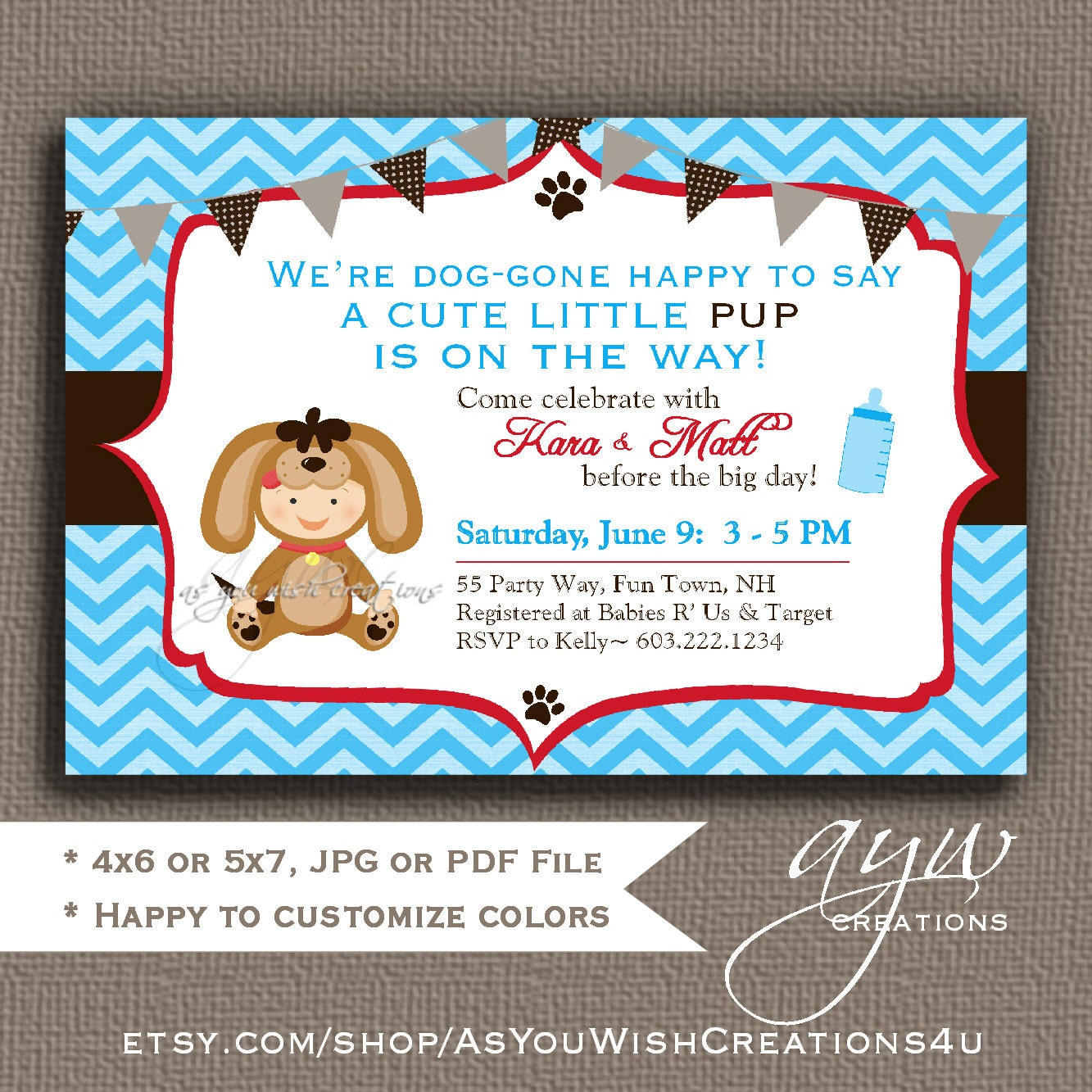 Baby Boy Shower Invitations Dogs – diabetesmang.info