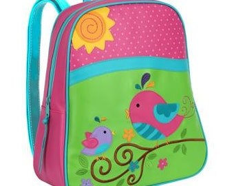 Personalized Stephen Joseph Go Go Bird Backpack