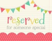 Reserved for Elizabeth
