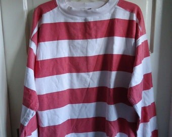 Vintage 80s/90s EXPRESS Oversized Striped Shirt sz M