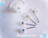 Snowflake Hair Pins Frozen Inspired Elsa Bobby Pin