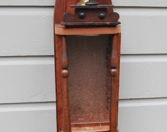 Victorian wallhanging birdfeeder from salvaged and repurposed materials