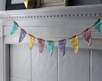 Spring Colors Banner, Pennant Flag Bunting for Spring. Rustic Springtime Decor, Easter Decorations. Pennant Flag Photo Props.