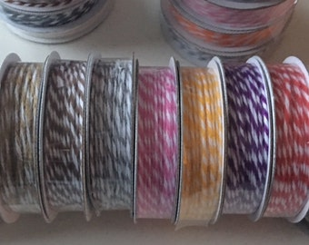 American Crafts Bakers Twine Set of 7 Spools