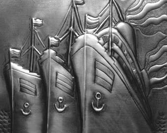 Three Ships Sailing Pewter