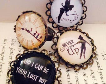 Peter Pan Themed 25mm Pin Brooch or Ring