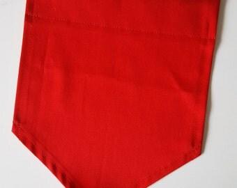 LIMITED EDITION - Handmade Valentine Red CUSTOM Wall Banner - Handmade Custom Banner