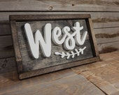 Last name wood framed sign