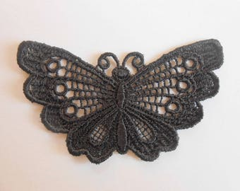 Butterfly in Black Lace of 7 x 4 cm