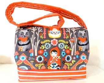 Child's Messenger Bag - Little Red Riding Hood - Ready to Post