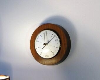 Vintage Barometer Dutch Vintage Wood Barometer Wall Decor Wall Hanging Weather Station 1966