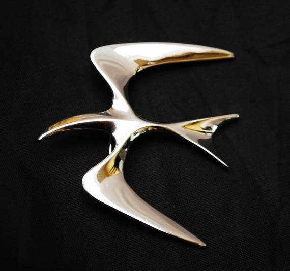 Silver Bird Brooch - Signed Sarah Coventry - Mr Sea Gull - Modern