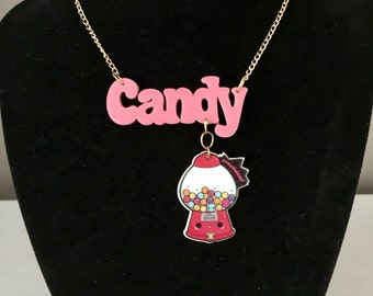 Candy gumball Necklace