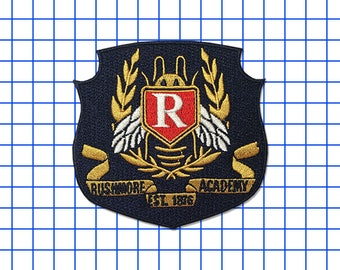 25% off Wes Anderson inspired Rushmore Academy iron-on replica fan patch