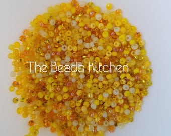 11/0 Czech Glass Rocaille Seed beads Lemon Yellow Mix Peyote Beads Embroidery Twist Summer High Quality