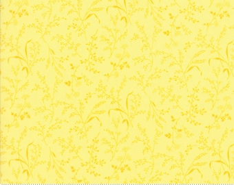SUMMER BREEZE IV - #33285-12  - Leaves - Wheat - Yellow - by Sentimental Studios for Moda - Blues - Yellows - Classic