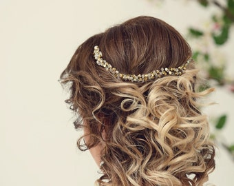 Gold headband Wedding hair accessories Rhinestone Headband Diamond Headband Crystal Headband  Rhinestone Hairband Hair Accessories Hairband