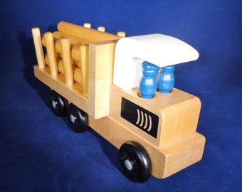 Wooden Log Hauler Toy Truck by Holgate, Wooden Toy Truck, Holgate Toy, Log Hauler Truck, Push Toy