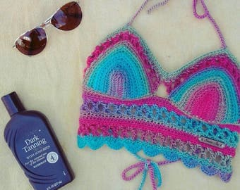 Flash sale item* Lace Bralette, crochet bralette, halter top, drop top, bra top, bralette, yoga top, bikini top, lace bra, crochet bra