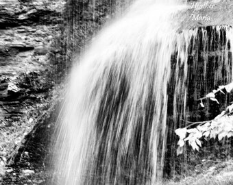 Black and White Cathedral Falls, West Virginia, fine art photography