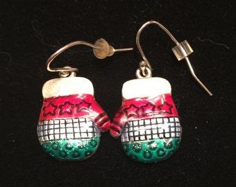 Christmas Mitten Earings