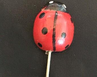 Ladybug Stick Pins Etsy