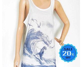 Dinosaur tank top dinosaur shirt teens girl graphic tank top hipster tank top summer tanks women t shirt women tees screen print size M