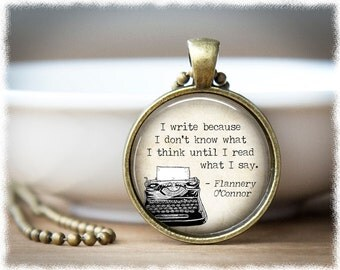Writer Necklace • Gifts For Writers • Author Gift • Typewriter Necklace • Literary Jewelry • Book Lover Pendant