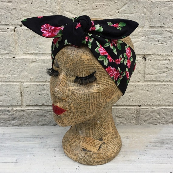 Floral Headscarf Rockabilly Pinup inspired