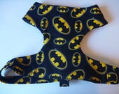 """Batman Soft Dog Harness-Black & Yellow Harness """"Batman"""" - Soft on Your Dogs Skin - Available"""