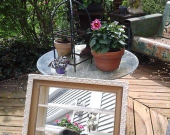 Vintage large shadow box mirror