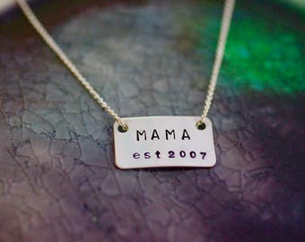 Mama Necklace -  Mother's Day Gift - Mom Theme - New Mom - Mommy Necklace - Gifts For Mom - Mom Jewelry - Mama - Mom Gift - Mommy Jewelry