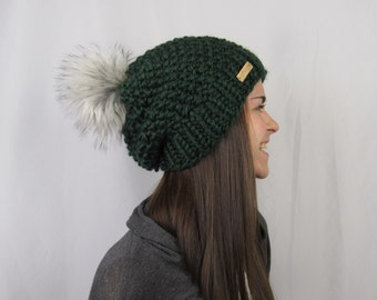 FLASH SALE Whitaker Beanie in Forest Green by Morthunder