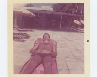 Vintage Snapshot Photo: Sunbather, 1962 (612533)