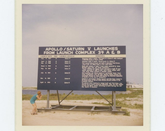 "Vintage Snapshot Photo: ""Apollo & Saturn V Launches"", Kennedy Space Center, Cape Canaveral, FL 1970 (72551)"