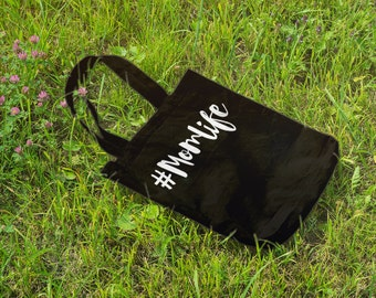 Hashtag Momlife // Casual Cotton Canvas Tote