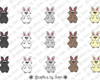 """EASTER Bunnies - 1"""" DIGITAL Bottle Cap IMAGES - For Use On Finished Products & For Precut sale"""