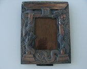Vintage Dragon Metal Picture Frame