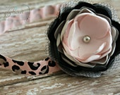 Puppy Love - Sweet Pink & Black Valentine headband