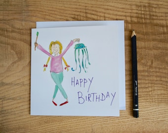 Crafty Girl Birthday Card