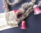 Victorian Tinsel Garland Mercury Bells Vintage Christmas Tree Decor