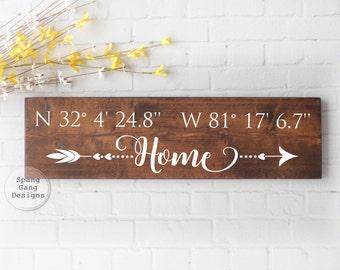 GPS sign | latitude longitude | coordinates sign | housewarming gift | wedding gift | GPS coordinates | GPS coordinates sign | latitude sign