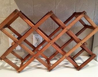 wooden wine rack vintage horizontal vintage bar 10 bottle wine rack folds