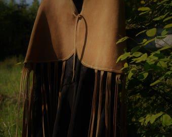 Vintage Free People Leather Fringe Vest, 1970's Vintage Fringe Vest, Festival Fringe Vest, Vintage Leather Vest