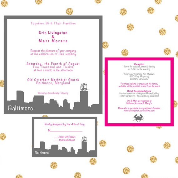 Wedding Invitations In Maryland: Items Similar To Printable Custom Wedding Invitations